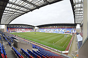 The DW Stadium before  the Sky Bet League 1 match between Wigan Athletic and Bury at the DW Stadium, Wigan, England on 27 February 2016. Photo by Mark Pollitt.