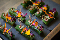 Lima, Peru- March 20, 2015: Edible flowers figure heavily into the Virgilio Martínez's dishes at his restaurant Central, which has been earning accolades as the one of the best restaurants in South America. The menu  celebrates the biodiversity of the Peru with two multi-course tasting menus split into alitudes, land and sea depth. CREDIT: Chris Carmichael for The New York Times