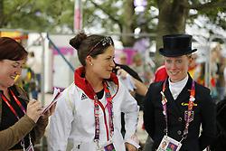 SPREHE Kristina (GER), LANGEHANENBERG Helen (GER)<br /> London - Olympische Spiele 2012<br /> <br /> Dressur Grand Prix de Dressage<br /> © www.sportfotos-lafrentz.de/Stefan Lafrentz