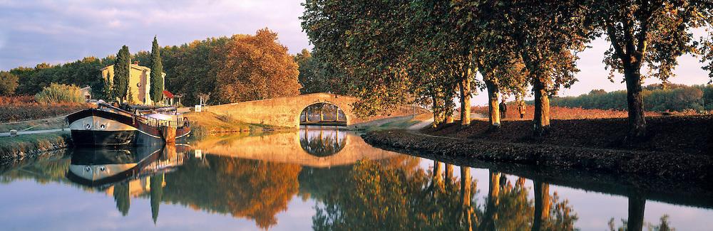 Canal du Midi, Aude, Languedoc, France