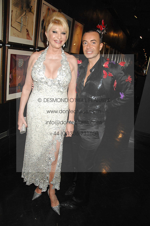 IVANA TRUMP and JULIEN MACDONALD at Andy & Patti Wong's Chinese new Year party held at County Hall and Dali Universe, London on 26th January 2008.<br />