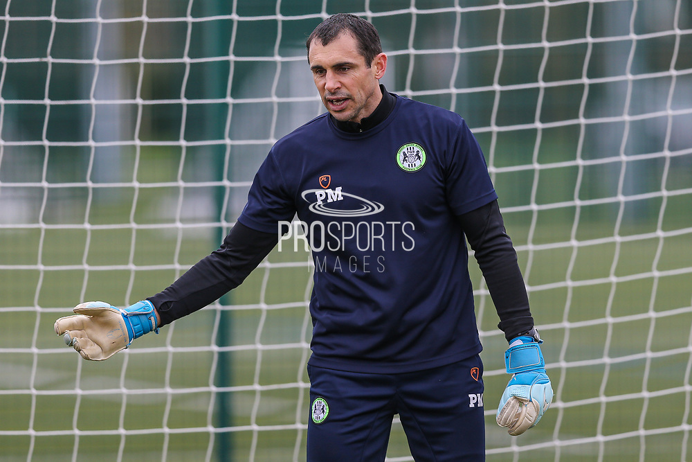 Forest Green Rovers goalkeeper coach Pat Mountain at Stanley Park, Chippenham, United Kingdom on 14 January 2019.