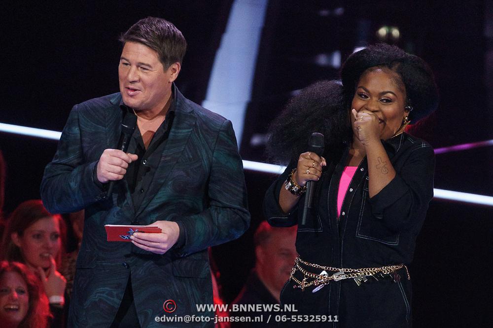 NLD/Hilversum/20190201- TVOH 2019 1e liveshow, Martijn Krabbe en Sarah-Jane
