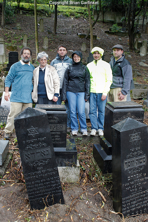 Dad, Mom, Joel, Kate, Jesus and Me in front of the grave stones of my Great-Great Grand parents in Povazka Bystrica, Slovakia on Sunday July 3rd 2011. (My Mom's (Judy), Father's (Otto), Dad's Parents) (Photo by Brian Garfinkel)