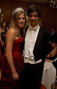 Alexis Saperstein and her escort Prince Ashley Poniatowski, , Getting ready before the  Thirteenth Annual Crillon Haute Couture Ball. Paris,  29 November 2003. © Copyright Photograph by Dafydd Jones 66 Stockwell Park Rd. London SW9 0DA Tel 020 7733 0108 www.dafjones.com
