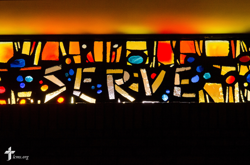 Stained glass in the chapel of the Sommer Center for Worship and Performing Arts at Concordia College New York on Saturday, July 19, 2014, in Bronxville, NY. LCMS Communications/Erik M. Lunsford