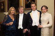 CHARLES PEARSON; LILA PEARSON; VISCOUNT ROTHERMERE; THEODORA HARMSWORTH, Charlton Hunt Ball at Goodwood House.  6 February 2016