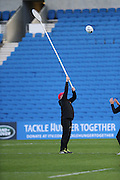 Line out practice paddle during the South Africa Captain's Run training session in preparation for the Rugby World Cup at the American Express Community Stadium, Brighton and Hove, England on 18 September 2015.
