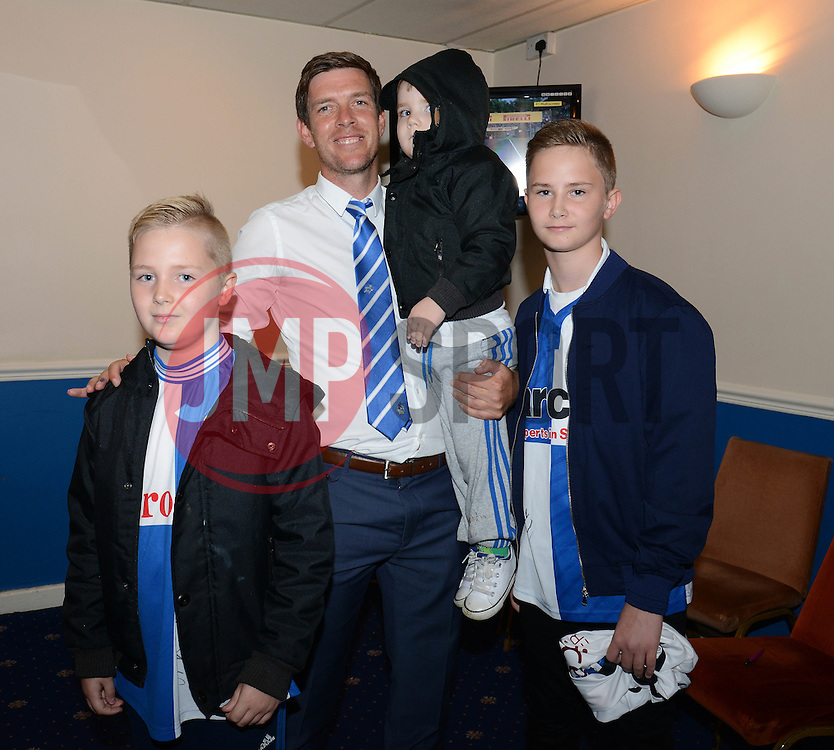 Bristol Rovers manager, Darrell Clarke poses for photos with fans  - Mandatory by-line: Dougie Allward/JMP - 07966386802 - 26/07/2015 - SPORT - FOOTBALL - Bristol,England - Memorial Stadium - Bristol Rovers Open Day - Bristol Rovers Open Day