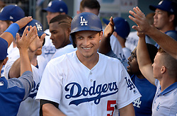 June 20, 2017 - Los Angeles, California, U.S. - Los Angeles Dodgers' Corey Seager (5) smiles after hitting a two run home run in the first inning of a Major League baseball game against the New York Mets at Dodger Stadium on Tuesday, June 20, 2017 in Los Angeles. (Photo by Keith Birmingham, Pasadena Star-News/SCNG) (Credit Image: © San Gabriel Valley Tribune via ZUMA Wire)