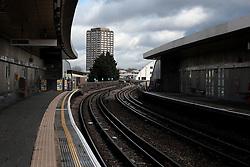 UK ENGLAND LONDON 26MAR15 - White city underground station.<br /> <br /> jre/Photo by Jiri Rezac<br /> <br /> © Jiri Rezac 2015