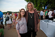 BONNIE WRIGHT; JAMIE CAMPBELL-BOWER, Chucs Dive & Mountain Shop charity Swim Party: Lido at The Serpentine. London. 4 July 2011. <br /> <br />  , -DO NOT ARCHIVE-© Copyright Photograph by Dafydd Jones. 248 Clapham Rd. London SW9 0PZ. Tel 0207 820 0771. www.dafjones.com.
