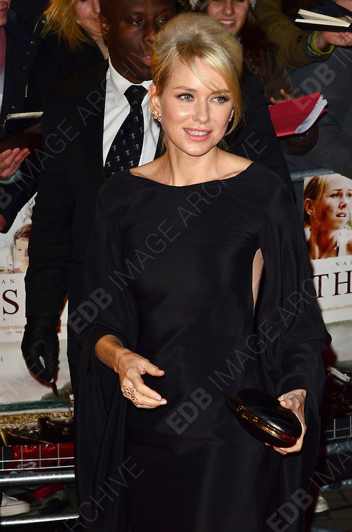 19.NOVEMBER.2012. LONDON<br /> <br /> NAOMI WATTS ATTENDS THE UK PREMIERE OF THE IMPOSSIBLE AT THE BFI MAX, SOUTHBANK.<br /> <br /> BYLINE: JO ALVAREZ/EDBIMAGEARCHIVE.CO.UK<br /> <br /> *THIS IMAGE IS STRICTLY FOR UK NEWSPAPERS AND MAGAZINES ONLY*<br /> *FOR WORLD WIDE SALES AND WEB USE PLEASE CONTACT EDBIMAGEARCHIVE - 0208 954 5968*