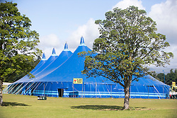 Slam Tent. The first campers arrive at T in the Park 2016.