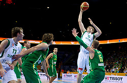 Erazem Lorbek of Slovenia during basketball game between National basketball teams of Slovenia and Lithuania at of FIBA Europe Eurobasket Lithuania 2011, on September 15, 2011, in Arena Zalgirio, Kaunas, Lithuania.  (Photo by Vid Ponikvar / Sportida)