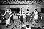 Students of the Music for Hope project rehearsing for a concert.<br /> Community of La Canoa,<br /> Bajo Lempa, El Salvador.1999