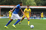 AFC Wimbledon defender George Francomb (7) in first team action after a lengthy spell out due to an injury during the EFL Sky Bet League 1 match between Rochdale and AFC Wimbledon at Spotland, Rochdale, England on 27 August 2016. Photo by Stuart Butcher.