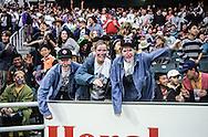 Hong Kong. Rugby seven tournament, with teams from all Asia, the biggest gathering of white people in    / Tournoi annuel de rugby à 7 dans le nouveau stade construit par Bouygues. Des supporters éméchés  / R00057/33    L1783  /  P0000890