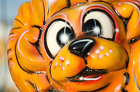 Lion face on a carnival ride, Blue Hill Fair, Maine.