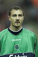 Fotball, Liverpool's new Polish goalkeeper Jerzy Dudek.  (Foto: Digitalsport).