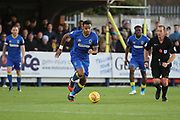 AFC Wimbledon midfielder Liam Trotter (14) dribbling during the EFL Sky Bet League 1 match between AFC Wimbledon and Peterborough United at the Cherry Red Records Stadium, Kingston, England on 12 November 2017. Photo by Matthew Redman.
