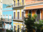 Colorful building facades, Old San Juan/Viejo San Juan.