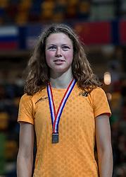 11-02-2017 NED: AA Drink NK Indoor, Apeldoorn<br /> Marijke de Visser, 3de op de 3000 m