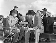 19/09/1960<br /> 09/19/1960<br /> 19 September 1960<br /> Goffs September Bloodstock Sales at Ballsbridge, Dublin. The Ballsbridge September Yearling Sales opened in Dublin and attracted many international racing personalities. Picture shows Sir Cecil Stafford-King-Harmon (left) Irish owner, chatting with Lord Powerscourt at the sales.