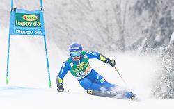 Giovanni Borsotti of Italy during 1st run of Men's Giant Slalom race of FIS Alpine Ski World Cup 57th Vitranc Cup 2018, on 3.3.2018 in Podkoren, Kranjska gora, Slovenia. Photo by Urban Meglič / Sportida