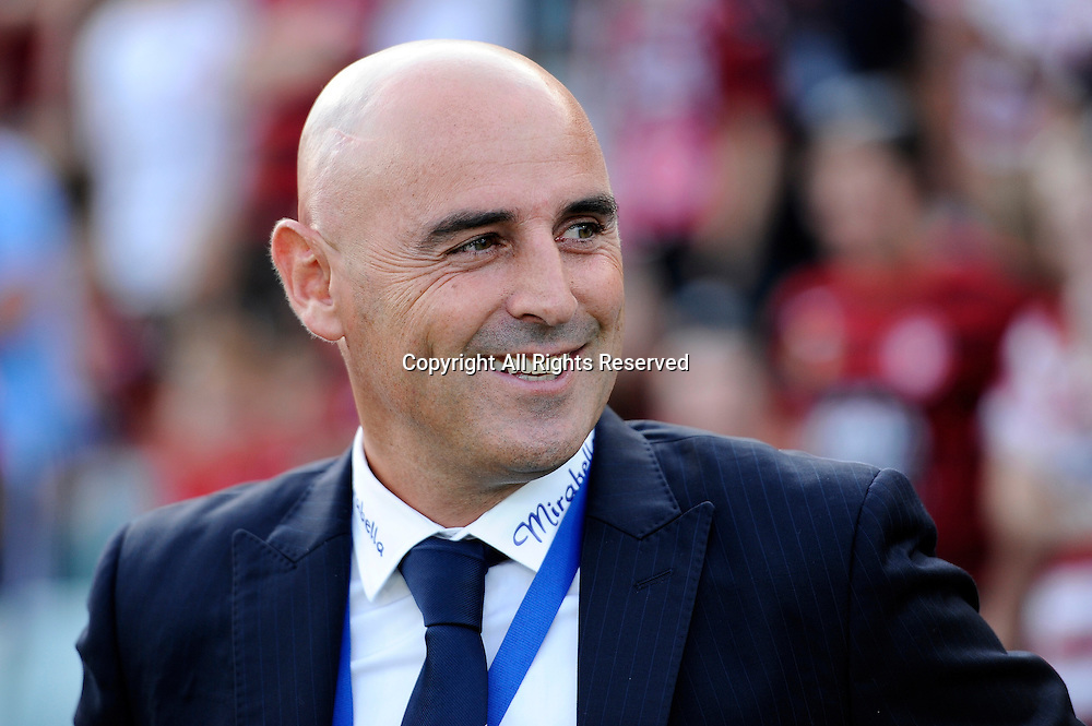 06.01.2015. Sydney, Australia. Hyundai A-League Round 14. Western Sydney Wanderers FC v Melbourne Victory FC. Victory coach Kevin Muscat.Victory won the game 2-1.