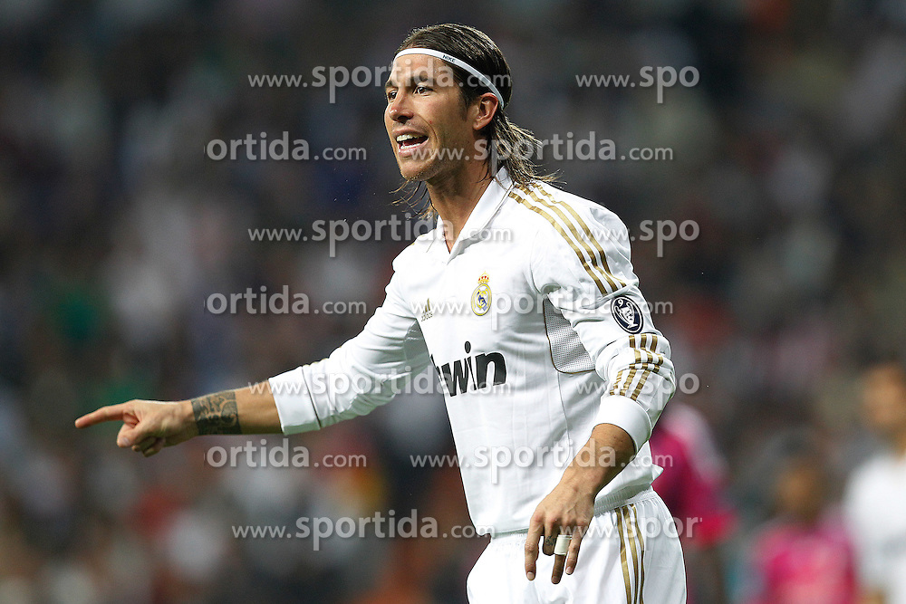 18.10.2011, Santiago Bernabeu Stadion, Madrid, ESP, UEFA CL, Gruppe D, Real Madrid (ESP) vs Olympique Lyon (FRA), im Bild Real Madrid's Sergio Ramos // during UEFA Champions League group D match between Real Madrid (ESP) and Olympique Lyon (FRA) at City of Santiago Bernabeu Stadium, Madrid, Spain on 18/10/2011. EXPA Pictures © 2011, PhotoCredit: EXPA/ Alterphoto/ Cesar Cebolla +++++ ATTENTION - OUT OF SPAIN/(ESP) +++++