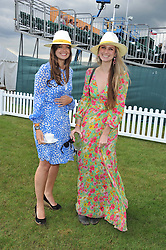 Left to right, LADY NATASHA RUFUS-ISAACS and BRYONY DANIELS at the 2012 Veuve Clicquot Gold Cup Final at Cowdray Park, Midhurst, West Sussex on 15th July 2012.