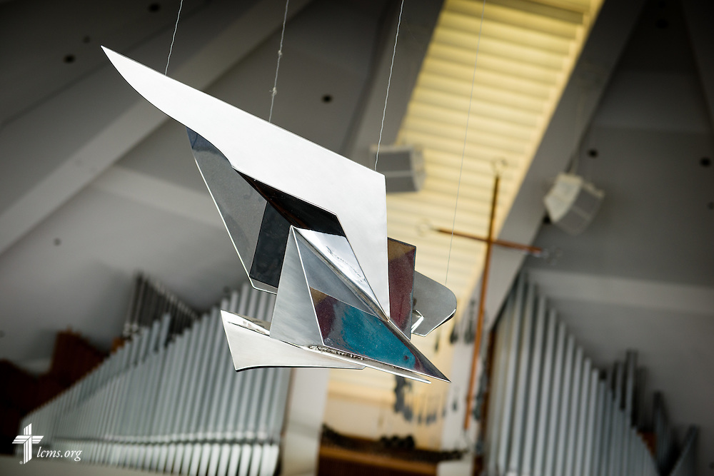 A photograph of the dove sculpture in the CU Center at Concordia University Irvine on Wednesday, July 9, 2014, in Irvine, Calif. LCMS Communications/Erik M. Lunsford