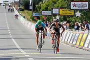 BELGIUM  / INGOOIGEM / CYCLING / WIELRENNEN / CYCLISME / 69TH HALLE - INGOOIGEM / NAPOLEON GAMES CYCLING CUP - GP MOLECULE / 200,5 KM / AANKOMST / ARRIVE / FINISH / DE BONDT DRIES (VERANDAS WILLEMS CYCLING TEAM) / KEUKELEIRE JENS (ORICA GREENEDGE)