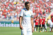 Real Madrid Midfielder Casemiro after missing a penalty during the AON Tour 2017 match between Real Madrid and Manchester United at the Levi's Stadium, Santa Clara, USA on 23 July 2017.