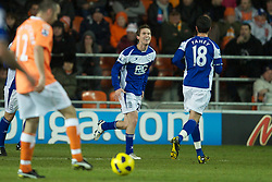 BLACKPOOL, ENGLAND - Tuesday, January 4, 2011: Birmingham City's Alexander Hleb celebrates scoring the opening goal against Blackpool during the Premiership match at Bloomfield Road. (Pic by: David Rawcliffe/Propaganda)
