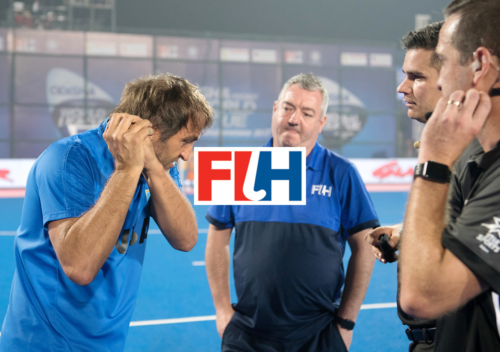 Odisha Men's Hockey World League Final Bhubaneswar 2017<br /> Match id:11<br /> Argentina v Spain<br /> Foto: coach Carlos Retegui (Arg) <br /> COPYRIGHT WORLDSPORTPICS FRANK UIJLENBROEK