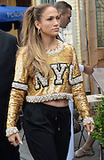 Sept. 8, 2014 - New York, NY, USA - <br /> <br /> Jennifer Lopez wearing ugly jumper<br /> <br /> Jennifer Lopez out and about in New York City wearing not the most fetching of jumpers while out walking in soho<br /> ©Exclusivepix