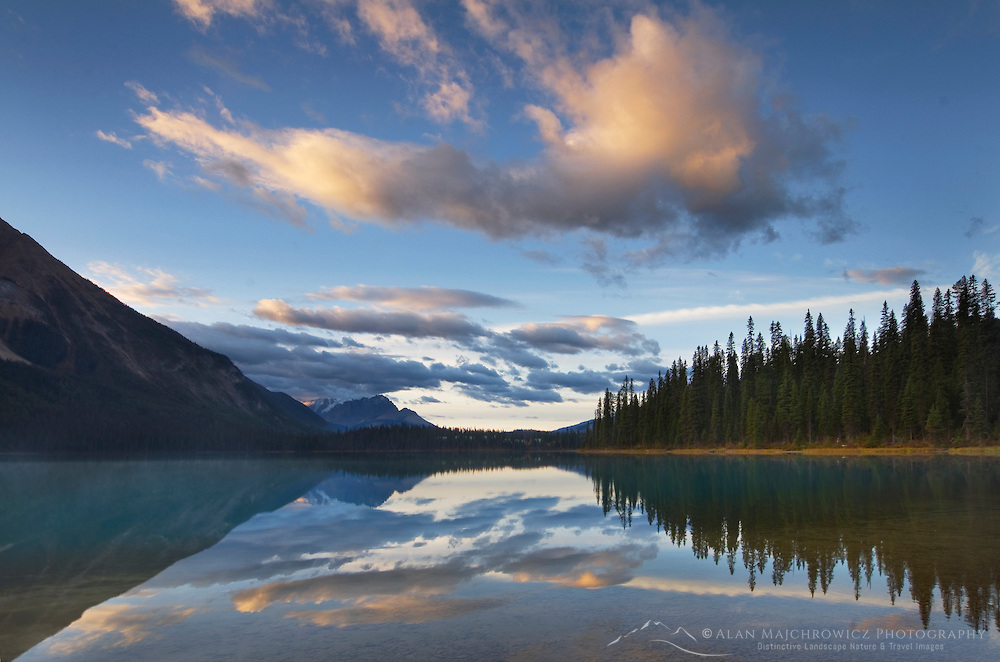 Sunrise at Emerald Lake, Yoho National Park British Columbia