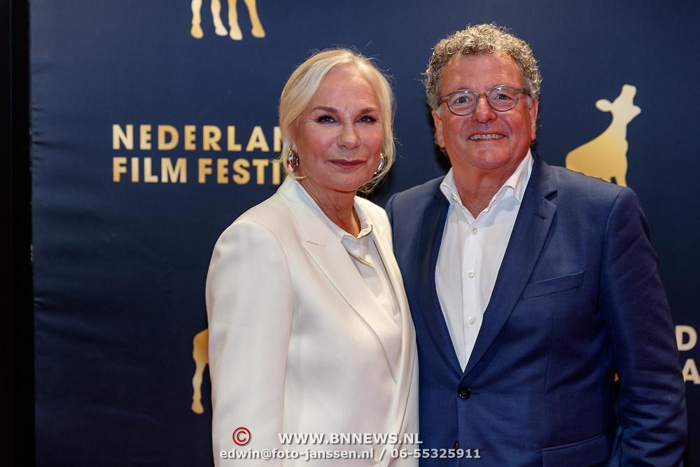 NLD/Utrecht/20180927 - Openingsavond Nederlands Film Festival Utrecht, Monique van der Ven en partner Edwin de Vries