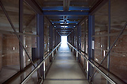 glass walled hall through what was ones part of the Nazi congress hall in Nuremberg