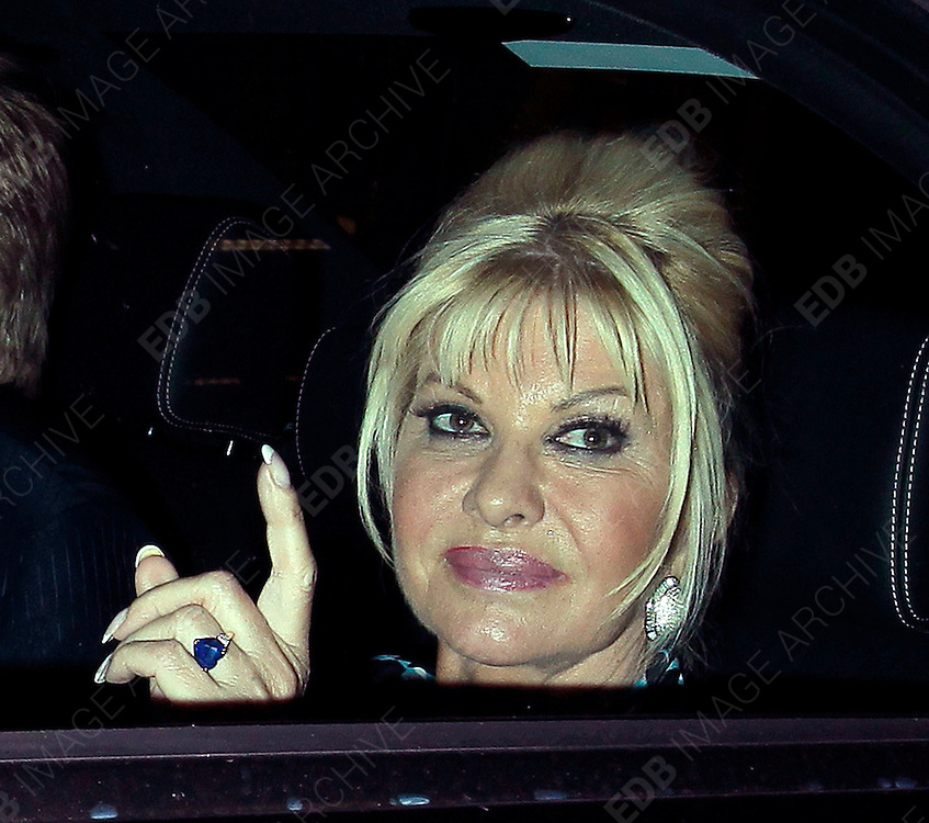 14.JUNE.2010 - LONDON<br /> <br /> IVANA TRUMP LEAVING CIPRIANI'S RESTAURANT IN MAYFAIR.<br /> <br /> BYLINE: EDBIMAGEARCHIVE.COM<br /> <br /> *THIS IMAGE IS STRICTLY FOR UK MAGAZINES AND WORLDWIDE SALES ONLY*<br /> *FOR WEB USE PLEASE CONTACT EDBIMAGEARCHIVE - 0208 954 5968*