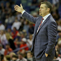 Feb 1, 2016; New Orleans, LA, USA; Memphis Grizzlies head coach David Joerger during the first quarter of a game against the New Orleans Pelicans at the Smoothie King Center. Mandatory Credit: Derick E. Hingle-USA TODAY Sports