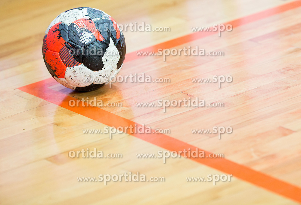 Ball during friendly handball match between National teams of Slovenia and Croatia as preparation game for European Championship in Poland, on January 9, 2016 in Arena Bonifika, Koper, Slovenia. Photo by Vid Ponikvar / Sportida