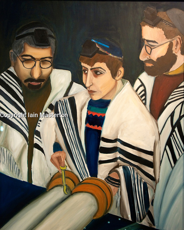 Painting called Bar Mitzvah by Barbara Honigmann at Judisches or Jewish Museum in Kreuzberg central Berlin Germany