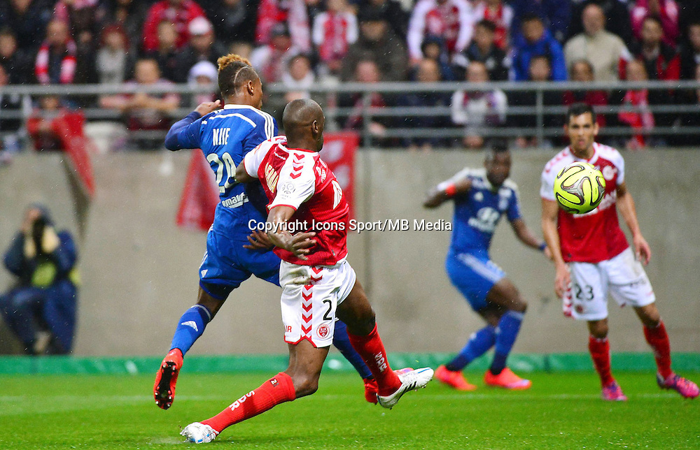 But Clinton NJIE - 26.04.2015 - Reims / Lyon - 34eme journee de Ligue 1<br /> Photo : David Winter / Icon Sport
