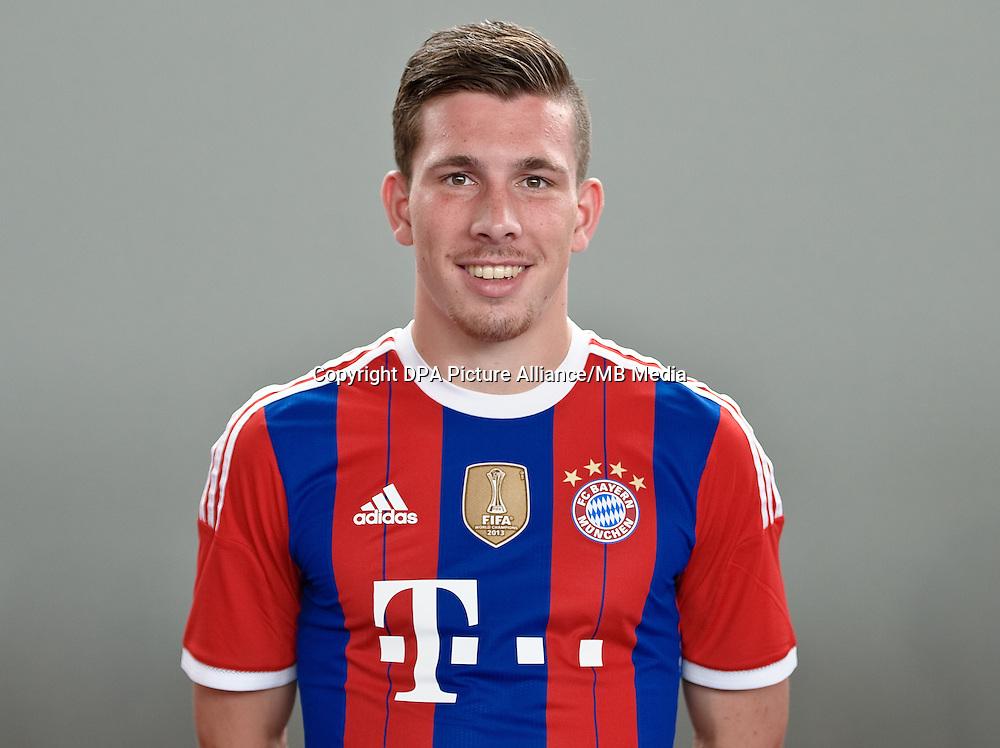 German Soccer Bundesliga - Photocall FC Bayern Munich in Munich on August 9, 2014: Pierre-Emile Hojbjerg.