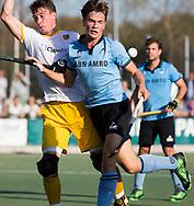 WASSENAAR - Jorrit Croon (HGC) met   tijdens  de hoofdklasse hockeywedstrijd HGC-Den Bosch (3-2). COPYRIGHT KOEN SUYKArjen Lodewijks (Den Bosch)