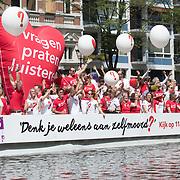 NLD/Amsterdam//20170805 - Gay Pride 2017, Zelfmoord proventie boot - Astare/ 113 online