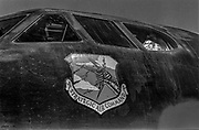 Castle Air Force Base-July 30, 1980- Emmett Corrigan and I went to CAFB to interview pilots and crew of the B-52 that we younger than the aircraft that they were flying.<br /> <br /> Castle is named for Brigadier General Frederick W. Castle, who died on Dec. 24, 1944 flying his 30th bombing mission. He died leading an armada of 2000 B-17s on a strike against German airfields. On the way to the target, an engine failure over Liege, Belgium caused his bomber to fall behind, where it was attacked by Germans and caught fire. He ordered his men to bail out but stayed alone at the controls of the flaming Flying Fortress until it crashed. The entire crew, except Gen. Castle and one airman killed before the bailout order, survived. Gen. Castle received a Medal of Honor posthumously for his bravery.<br /> <br /> Castle became home to the 93rd Bombardment Wing in 1947. Aircraft stationed at Castle included B-29, B-17 and C-54 aircraft, with B-50 bombers arriving in 1949. In 1954, B-47 bombers arrived.  On June 29, 1955, Castle received the Air Force's first B-52. These heavy bombers can hold the equivalent of three railroad cars' worth of fuel. The first Air Force KC-135 jet tanker arrived May 18, 1957<br /> <br /> Castle was selected for closure under the Defense Base Closure and Realignment Act of 1990 during Round II Base Closure Commission deliberations (BRAC 91). The last of the B-52s left the base in 1994, followed by the departure of the last of the KC-135s in early 1995. The base closed September 30, 1995.